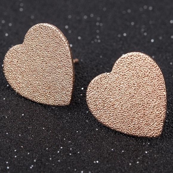 Gold Filled Heart Stud Earrings